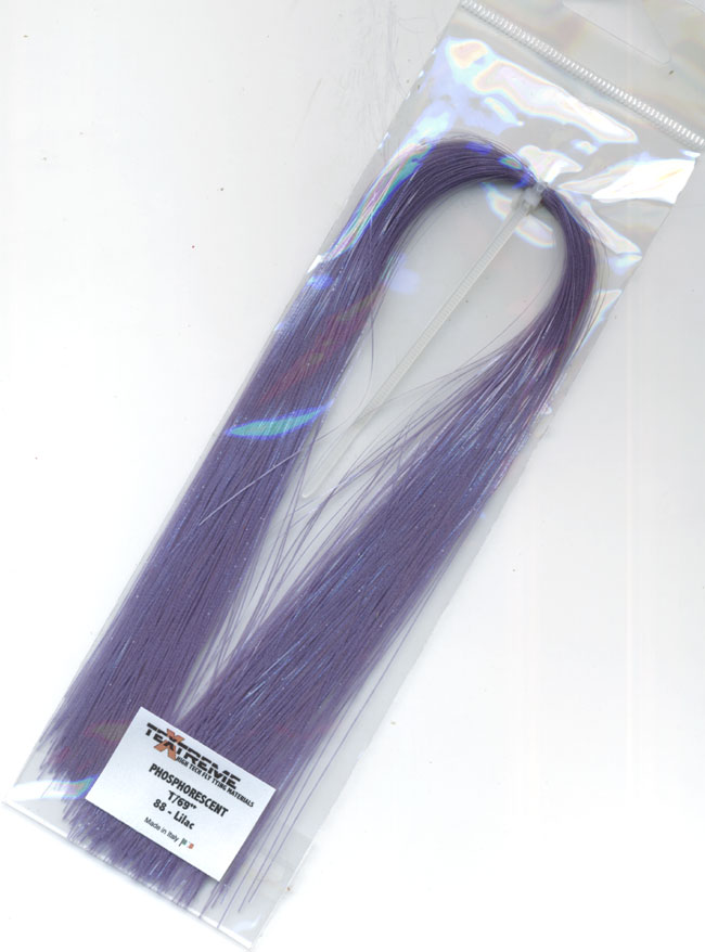 Phosphorecent fibers purple